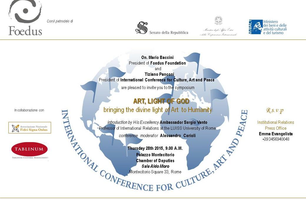 Conferenza: Art, Light of God