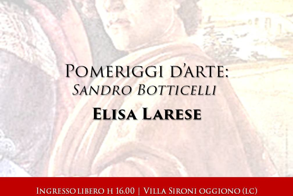 Pomeriggi d'Arte: Sandro Botticelli