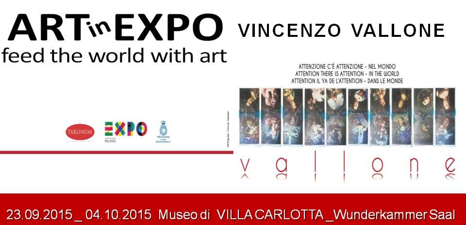 Attenzione, c'è attenzione: Vincenzo Vallone a Villa Carlotta con un'opera-denuncia contro i crimini dell'ISIS