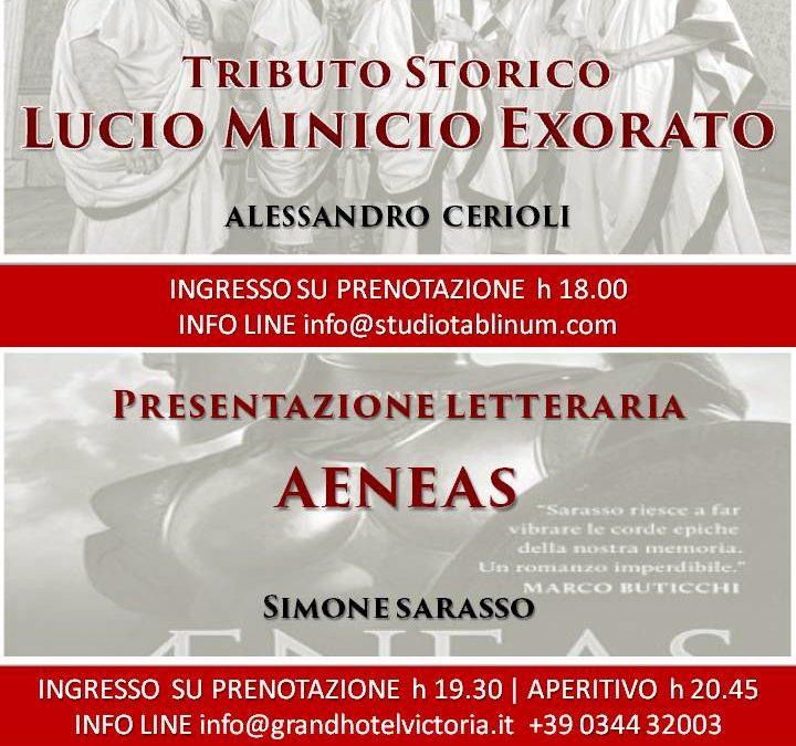 Serata Letteraria: Tributo Storico Lucio Minicio Exorato – Aeneas