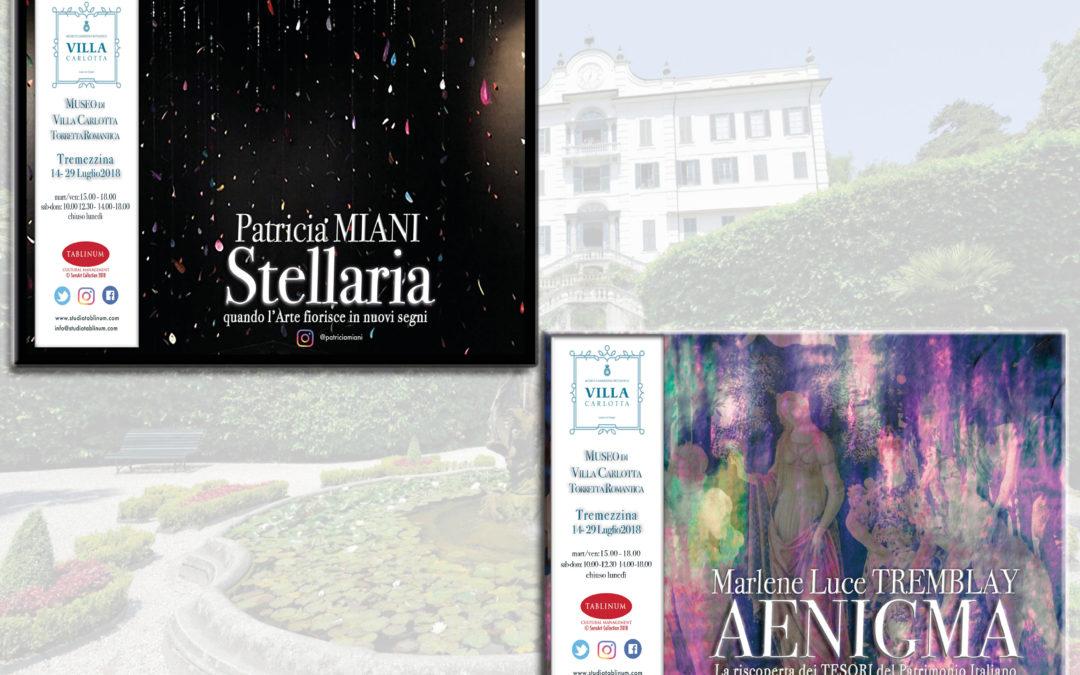 #SensArt a VILLA CARLOTTA con Marlene Luce Tremblay e Patricia Miani ( dal 14 al 29 luglio 2018)